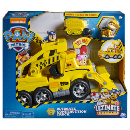 Spin Psi Patrol Rubble Duży Pojazd Ultimate Rescue Construction Truck