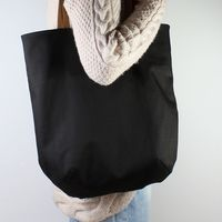 Mass Bag Canvas Black + Leather z zamkiem