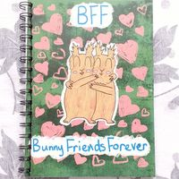 BFF Bunny Friends Forever A5 notebook | Etsy